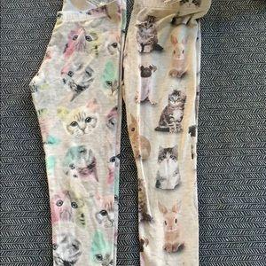 Pair of H&M size 7-8 animal leggings